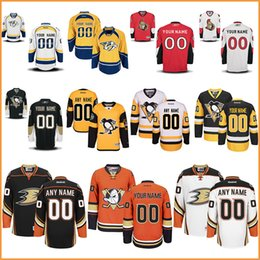 Canada Hommes nhl Pittsburgh Penguins Personnalisé 100% cousu Mois de hockey Sénateurs d'Ottawa Anaheim Ducks Nashville Predators Custom Jersey cheap duck custom Offre