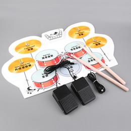 Wholesale El USB electrónico del nuevo silicón de SEWS rueda para arriba el kit del tambor con el envío libre del musical del pedal de los palillos
