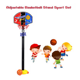 Wholesale Kids Basketball Stand Outdoor Indoor Sports Train Adjustable Basketball Hoop Toy Set Stand Ball Backboard Net Children Toy