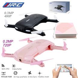 Promotion meilleurs drones de la caméra 2017 Meilleure vente JJRC H37 Elfie pliable Mini Selfie Drone JJRC H37 W / Caméra Altitude Hold FPV Quadcopter Téléphone WIFI Contrôle RC