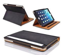 Tan Leather Wallet Stand Flip Case Smart Cover for New iPad 2017 Air 2 3 4 5 6 7 Air Air2 Pro 10.5 9.7 inch Mini Mini2 Mini3 Mini4