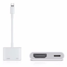 Wholesale 100 Original Genuine Light to AV HDMI HDTV TV Digital Cable Adapter For iphone S s For ipad5 For iphone
