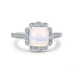 Descuento piedras preciosas conjunto de plata de ley Anillo de plata esterlina 925 sólido diseño de girasol vivos con ajuste de dientes Opal joya de plata de la boda del anillo de piedras preciosas