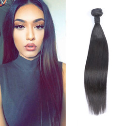 Wholesale Hot Selling Straight Brazilian Human Hair Weaves 8A Grade Unprocessed Human Hair Extensions 1 pcs 50g hair Bundles Brazilian