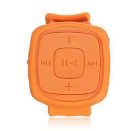 Promotion mp3 mémoire lecteur 1gb Vente en gros - 2016 nouvelle mode Mini Sport Lecteur de musique MP3 Montre bracelet Montre imperméable portable Mp3 avec micro mémoire flash TF Card