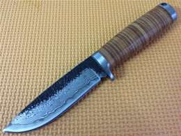 Best Price! Handmade Damascus knife, outdoor survival and tactical knives, high hardness copper handle Switzerland knife, army knife