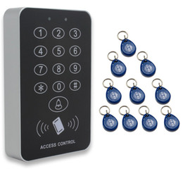 2017 entrée de la porte de sécurité Banrd New Sécurité de haute sécurité RFID Proximité Entrée Serrure de porte Système de contrôle d'accès 500 User +10 Keys LIVRAISON GRATUITE peu coûteux entrée de la porte de sécurité