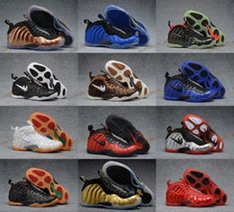 Wholesale 2017 New Air Foamposite One DS Black Metallic Copper Royal Blue Gym Ged Gold Yellow AIR FOAMPOSITE ONE COPPER sneakers BRONZE
