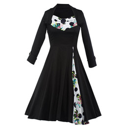 Free Shipping 2017 New Women's Vintage 1950s 60s Rockabilly Hepburn Polka Dots Floral Print Wiggle Swing Party Casual Dresses