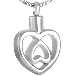 IJD8535 2016 Hot Selling Double Cremation Jewelry Stainless steel ashes pendants unique design memorial urn jewelry
