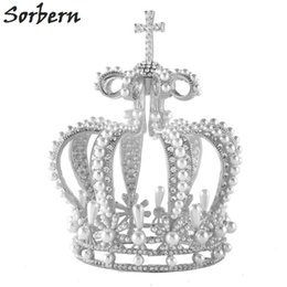 Sorbern Bride Hair Jewelry Baroque Vintage Beaded Luxury Crystal Tiara Sweet Princess Crown Wedding Hair Accessories Wholesale