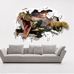 3D wall stickers Dinosaur cartoon wall stickers Children room decoration 3D stairs Waterproof fresco