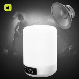 Wholesale w LED bluetooth speaker alarm clock lamp RGB color and level brightness USB touch sensor night lamp light