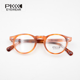 Italy design glasses Brand Designer 2019 retro round ov5186 gregory peck Eyewear glasses Frame With Original Cases
