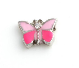 20PCS lot Enamel Butterfly Floating Locket Charms Fit For DIY Alloy Magnetic Living Locket Pendant Fashion Jewelrys