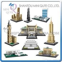 Wholesale DHL Mini Qute LOZ world architecture Big Ben Sungnyemun plastic building block brick model Action Figures educational toy