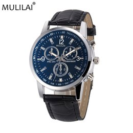 MULILAI leather men's watch luxury brand watch small three eyes quartz clock fashion Geneva leather ladies belt watch luxury men's sports wa