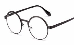 Wholesale HOT SALE New antique retro round eyeglasses metal frame men large vintage round glasses frames women UV black oculos redondo