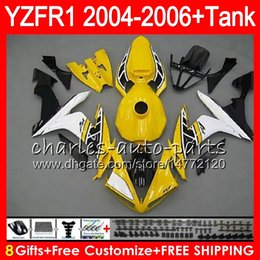 8Gift 23Color Body For YAMAHA YZF R 1 YZF 1000 YZFR1 04 05 06 58HM24 Yellow white YZF-R1000 YZF-R1 YZF1000 YZF R1 2004 2005 2006 Fairing kit