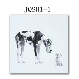Pet dog oil painting creative puppy small animal pure hand-painted cartoon decorative painting three-dimensional sense of strong color rich