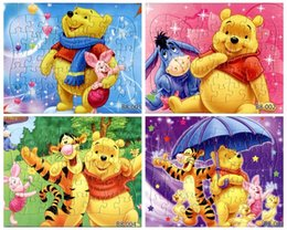 Wholesale picture pieces The animated cartoon cute bear tiger pig puzzle paper children kids toys gifts cm