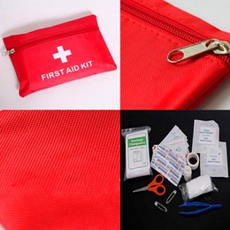 Promotion équipements d'emballage Hot 12-1 In Emergency Package Équipement de survie sur site portable SOS First Aid Kit For Free Shipping
