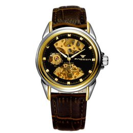 Wholesale Men s business double sided hollow automatic mechanical watches