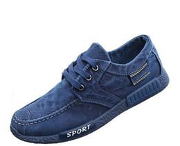 Men Canvas Shoes 2017 New Men's Fashion Solid Comfortable Casual Shoes Male Lace-up Denim Cloth Autumn Shoes G351