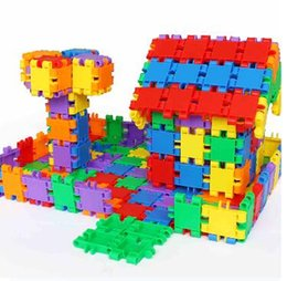 Wholesale Children s gifts puzzle toys building blocks plastic fight assembled security and environmental protection