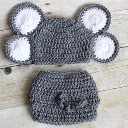 girls elephant costume Canada - Newborn Grey Elephant CostumeHandmade Knit Crochet Baby Boy Girl & Girls Elephant Costume Canada | Best Selling Girls Elephant Costume ...