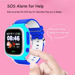 2017 dispositivo de niño perdido Q90 GPS de pantalla táctil WIFI Smart Watch niño SOS localización de localización del dispositivo Tracker Kid Safe Anti perdido monitor Smartwatch PK Q80 Q50 barato dispositivo de niño perdido