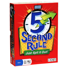 Wholesale 5 Second Rule board game Card Amusement Novelty Toys Second Rule Just Spit It Out Party Game KTV Games KKA1412