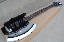 RARE Heavy Metal Chopper GENE SIMMONS AX Signature Guitare Noir 4 Cordes Basse Electrique Guitarra Chrom Pickup Cover En Stock Pour la vente à partir de guitares de signature à vendre fabricateur