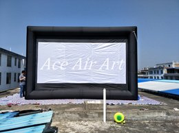 6m W x 4m H Giant black frame and white Inflatable Movie Screen for sale and Advertising on ground Made in China