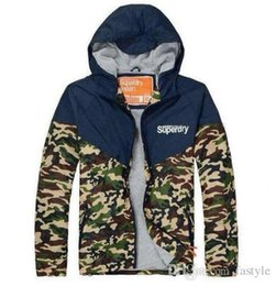 Wholesale HOT sale Super Dry Camouflage Jackets hoodie clothes hood by air men Outerwear patchwork Winter parka Coats Men s Clothing Apparel mix