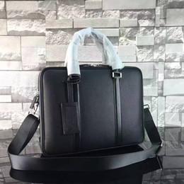 Sac d'affaires en Ligne-Nouveau célèbre designer en cuir véritable BRIEFCASE Sacs d'affaires sac à main de haute qualité deux zipper pour mâle 240