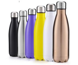 Wholesale Cola Shaped Insulated Double Wall Vacuum high luminance Water Bottle oz ml Creative Thermos bottle Vaccum Insulated