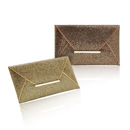 Wholesale Key Phone Holder Shapes - New Design Fashion Women Evening Bags Party Clutch Bags Purses Female PU Sequined Hasp Envelop Bags Women Small Clutch Handbags