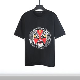 fashion design summer tees unique face colorful handmade embroidery short sleeve tops plus size t shirt men