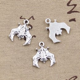 Wholesale Cents Charms bat mm Antique Making pendant fit Vintage Tibetan Silver DIY bracelet necklace