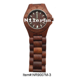 popular red sandal wood watch