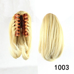 Fashion Ladies Natural Ponytail Corto Extensiones de Cabello Fibra Resistente al Calor Hair Synthetic Hair Wavy Claw Clip in Hairpieces desde resistente para el cabello de calor fabricantes