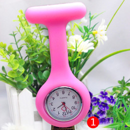 Wholesale 2017 Nurse Medical watch Silicone Clip Pocket Watches Fashion Nurse Doctor Silicon Quartz Watches christmas Holiday Activity gifts new