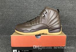 Wholesale Los nuevos hombres retros s de los hombres de los zapatos de baloncesto del PE del chocolate del envío del nuevo aire de calidad superior retro se divierten XII zapatillas de deporte