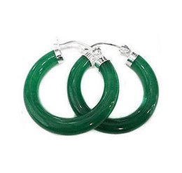 New Women's very perfect beautiful Green Jade Earring>>> free shipping