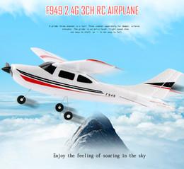 Original Wltoys F949 2.4G 3 Coreless Motors RC Aeroplano Avión de Larga Distancia Avión de Ala Fija al aire libre Drone Juguetes de Control Remoto desde distancia de vuelo fabricantes