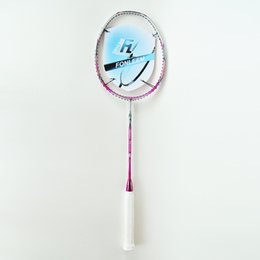 Wholesale SUPER POWER D Red Badminton Rackets Lbs U Graphite SUPER POWER D Red Carbon Offensive Type G4 Super Soft Badminton Rackets