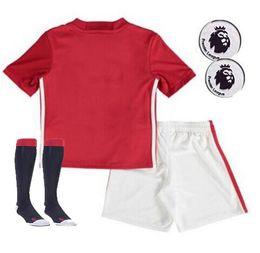 Wholesale Thai Quality Customized boys man utd kids Jerseys Shirt shorts socks Jerseys Shirts Cheap discount Popular Athletic Outdoor running Wear