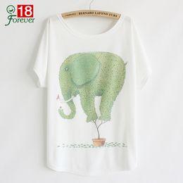 Promotion shirt de douille d'impression des animaux gros T-shirt Femme T-shirt Femme Harajuku Elephant