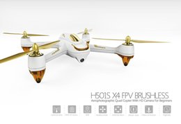Promotion gps quadcopter fpv Hubsan H501S Quadcopter FPV Drone RTF X4 PRO 5.8G GPS Brushless Follow Me Drone avec caméra HD 1080P Blanc F18977